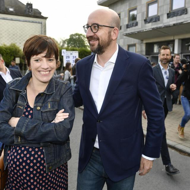 Charles Michel i Amelie Derbaudrenghien