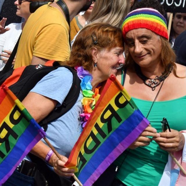 Detalj s prošlogodišnje Parade ponosa u Sarajevu