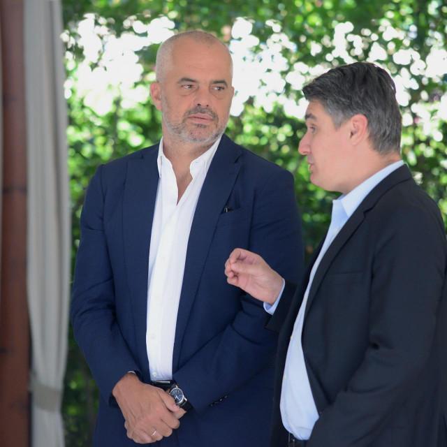 Edi Rama i Zoran Milanović, arhivska fotografija