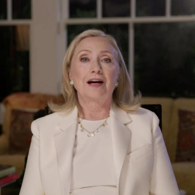 Hillary Clinton tijekom obraćanja na ovogodišnjoj Demokratskoj nacionalnoj konvenciji koja se ove godine održala u virtualnom okruženju zbog pandemije koronavirusa