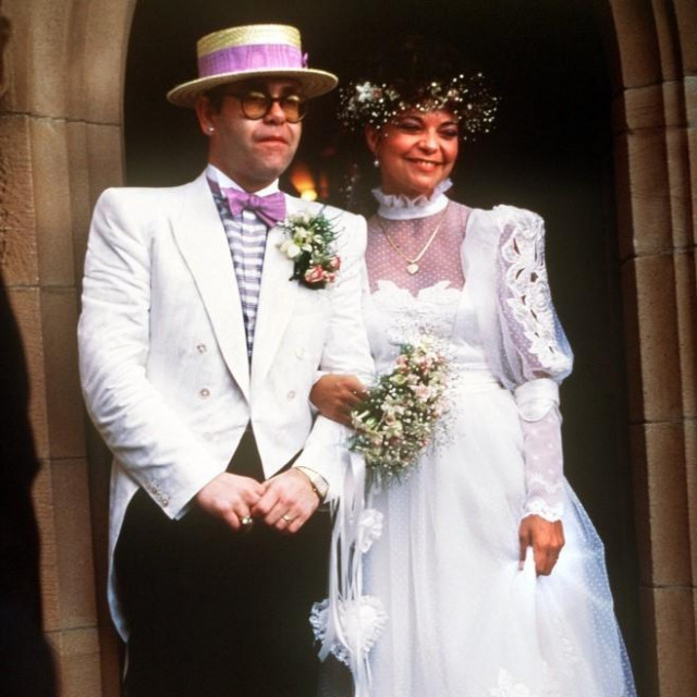 Vjenčanje Eltona Johna i Renate Blauel 1984.