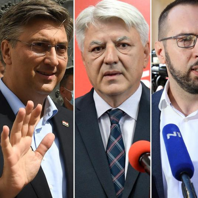 Andrej Plenković, Zlatko Komadina, Tomislav Tomašević, Božo Petrov i Miroslav Škoro