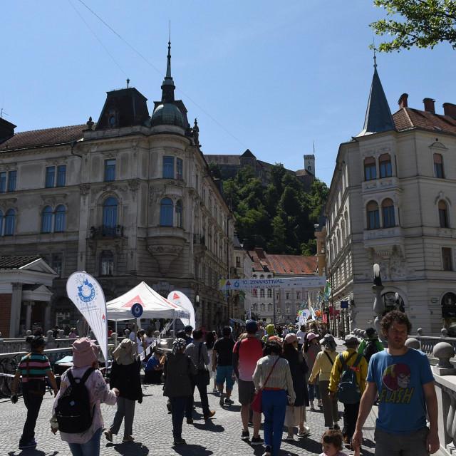 Ljubljana, 030618.<br /> U Sloveniji se danas odrzavaju parlamentarni izbori.<br /> Na fotografiji: Centar Ljubljane.<br />