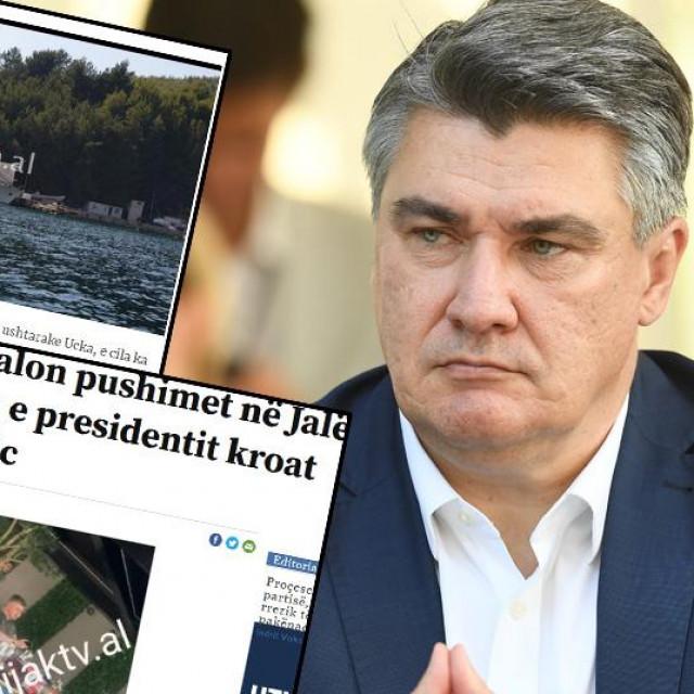 Zoran Milanović i screenshotovi albanskih medija