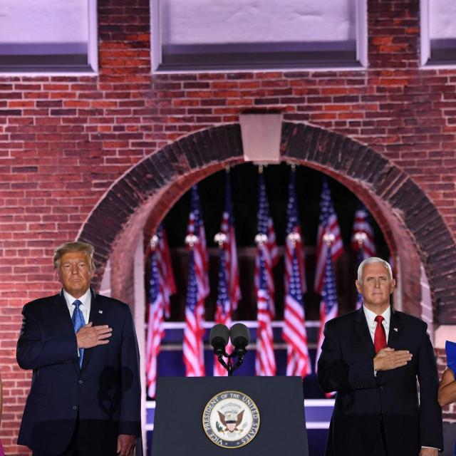 Melania Trump, Donald Trump, Mike Pence, Karen Pence