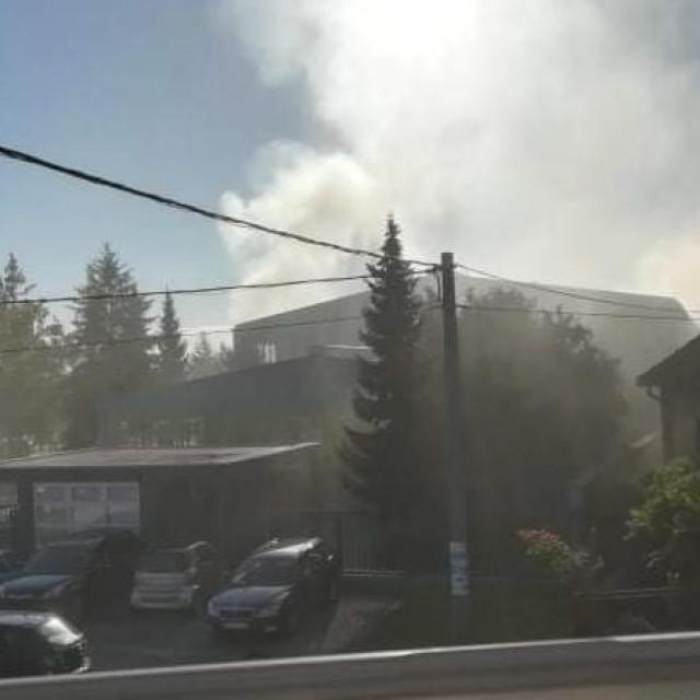 Požar u tvornici Mate Rimca u Zagorju