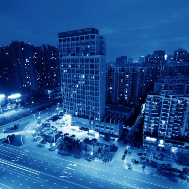 Wuhan noću
