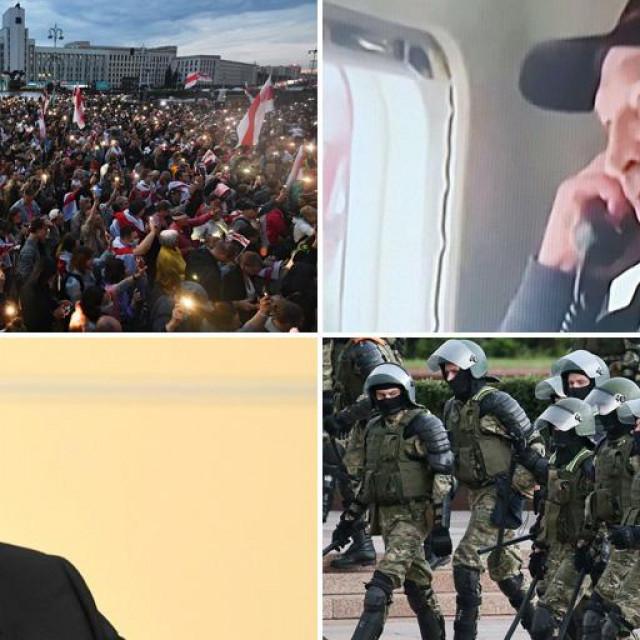 Prosvjedi u Minsku, Aleksandar Lukašenko, Vladimir Putin, vojnici u Minsku