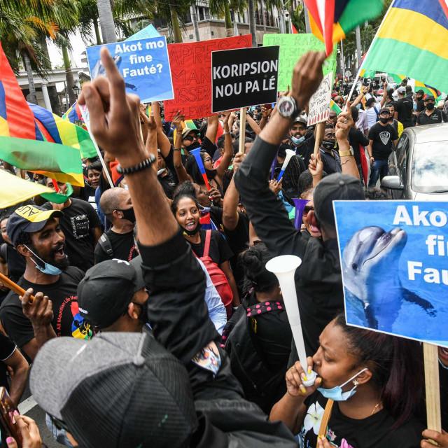 Prosvjed na Mauricijusu