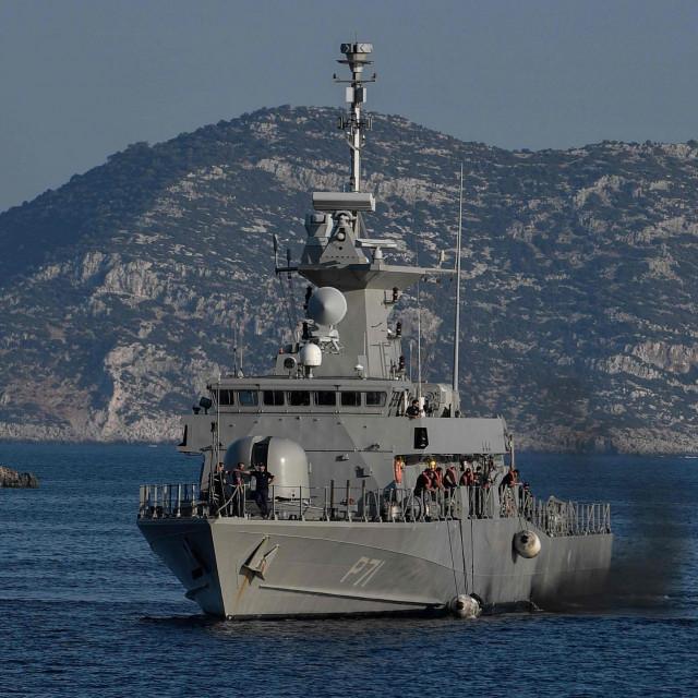 Grčki patrolni brod u blizini turske granice
