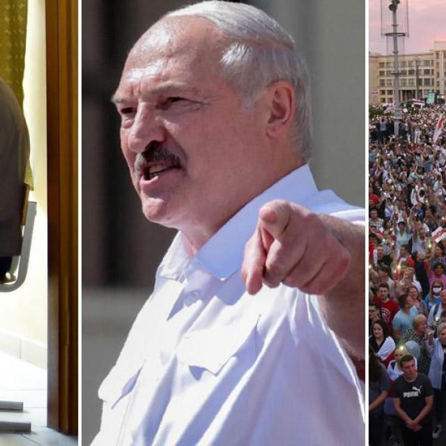 Prizori s izbora, Aleksandar Lukašenko i prosvjedi u Minsku