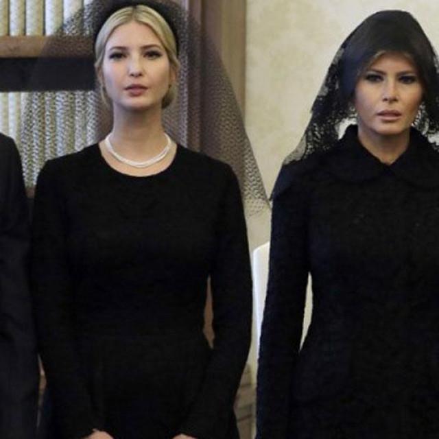 Ivanka, Melania i Donald Trump
