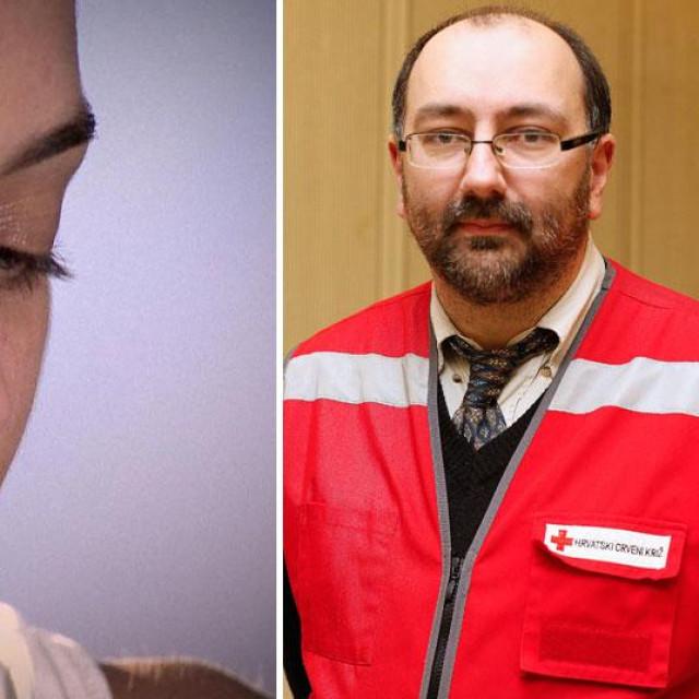 Bivša pacijentica varaždinskog psihijatra (lijevo), voditelj tima za krizna stanja Crvenog križa Varaždinske županije Nebojša Buđanovac (desno)