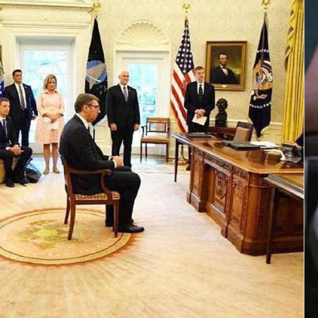 Vučić u Bijeloj kući i Sharon Stone u 'Sirovim strastima'