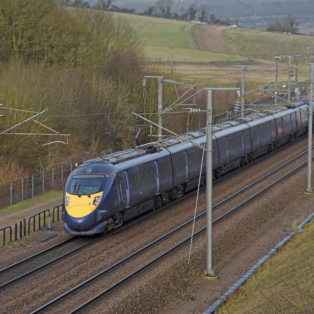 Ilustracija: Brzi vlak na putu za London