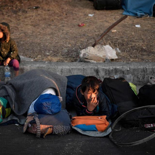 Migranti s otoka Lezbos