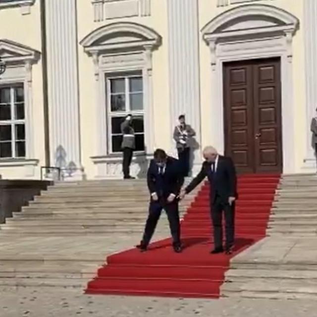 Predsjednik Zoran Milanović se u Berlinu susreo s njemačkim predsjednikom uz epidemiološke mjere