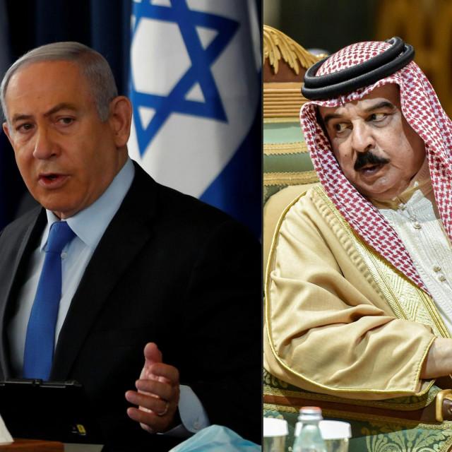 Izraelski premijer Benjamin Netanyahu i bahreinski kraljHamadom bin Isom Al Kalifom