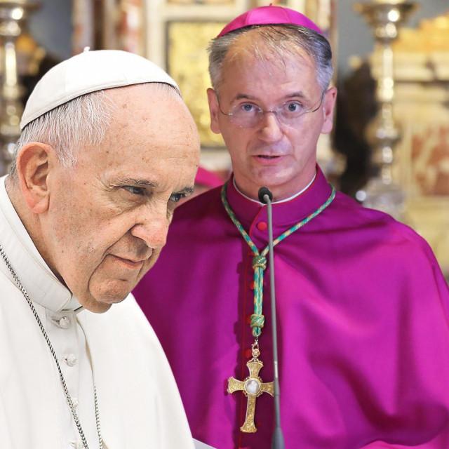 Papa Franjo i Dražen Kutleša