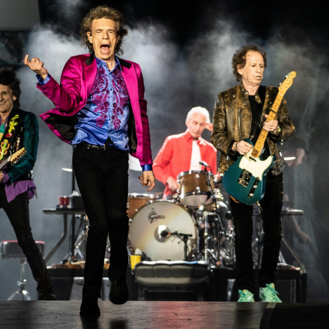SANTA CLARA, CALIFORNIA - AUGUST 18: Ronnie Wood, Mick Jagger, Charlie Watts and Keith Richards of The Rolling Stones perform at Levi's Stadium on August 18, 2019 in Santa Clara, California.,Image: 466171540, License: Rights-managed, Restrictions: **Not for sale in: USA, Brazil, Mexico**, Model Release: no, Credit line: MPIIS/Capital pictures/Profimedia