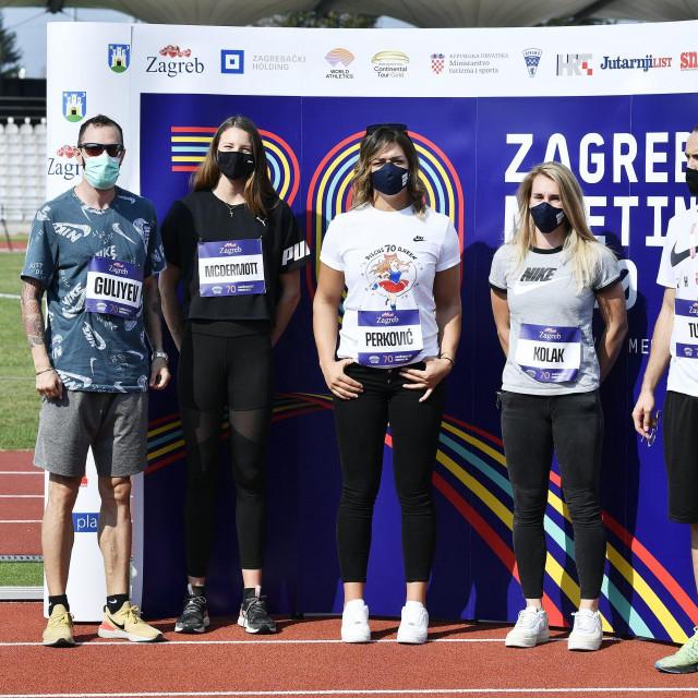 Atletičari Ramil Guliyev, Nicola McDermott, Sandra Perković, Sara Kolak i Amel Tuka