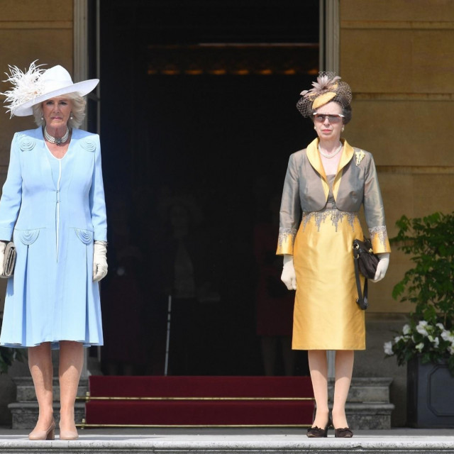 Prince Charles and Camilla Duchess of Cornwall with the Princess Anne (right) attend a Royal Garden Party at Buckingham Palace<br /> Royal Garden Party at Buckingham Palace, London, UK - 05 Jun 2018,Image: 373898828, License: Rights-managed, Restrictions:, Model Release: no, Credit line: -/Shutterstock Editorial/Profimedia