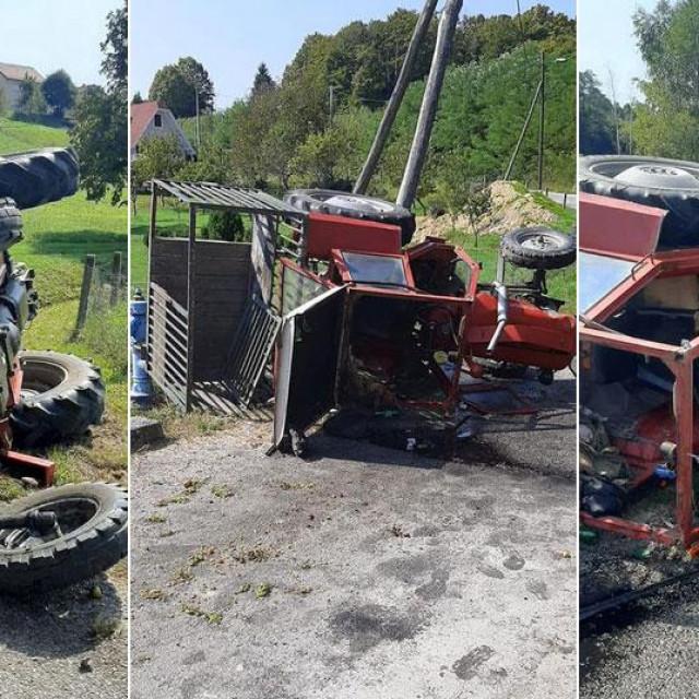 Prevrnuti traktor