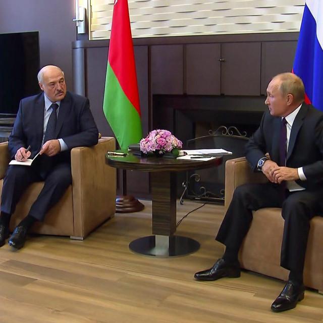 Aleksander Lukašenko i Vladimir Putin