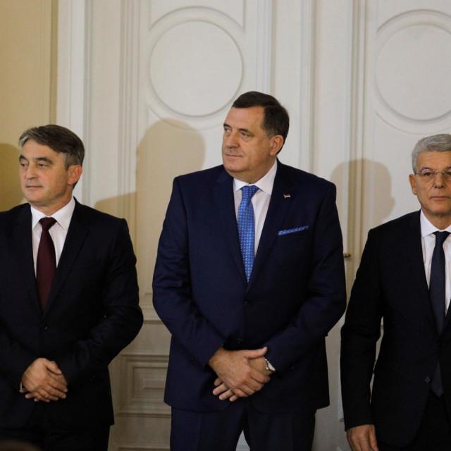 Željko Komšić, Milorad Dodik i Šefik Džaferović