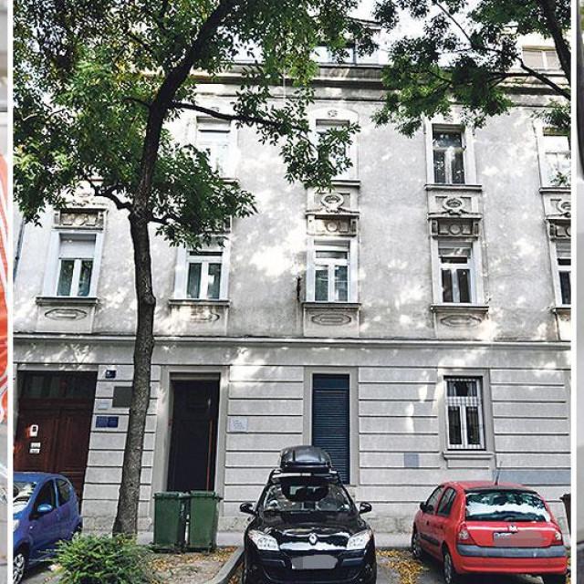 Krešo Petek (lijevo), zgrada u Slovenskoj ulici u kojoj je smješten famozni Kovačevićev 'Klub' (u sredini), Dragan Kovačević (desno)