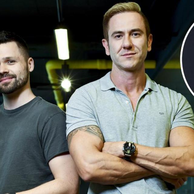 Osnivači tvrtke Nanobit Alan Sumina i Zoran Vučinić, Milan Horvat (u krugu)