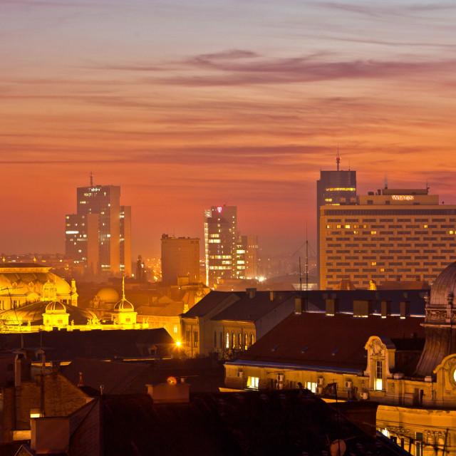 Zagrebačka panorama s Gornjeg Grada