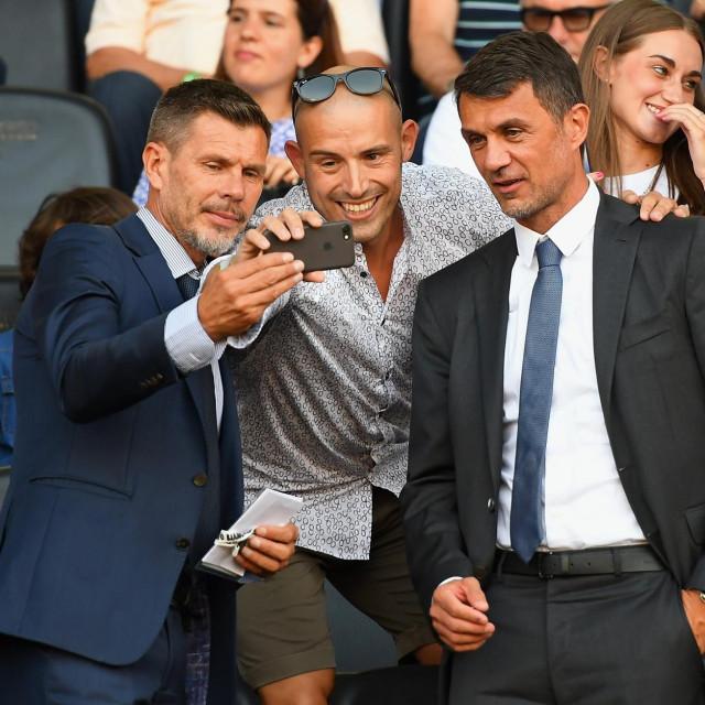 Zvonimir Boban i Paolo Maldini na stadionu u Udinama lanjskog kolovoza