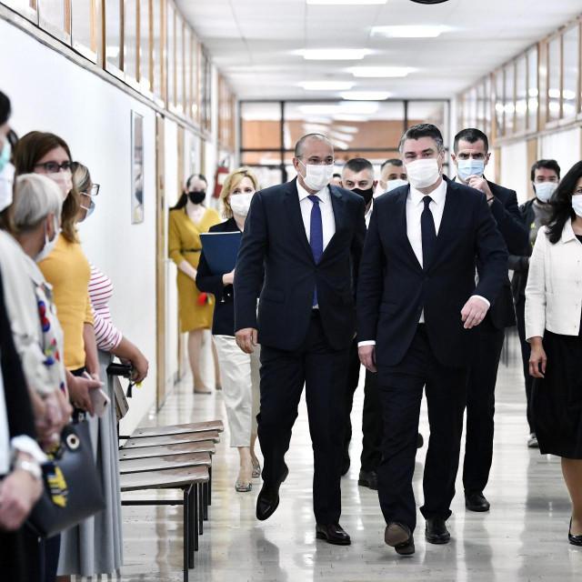 Predsjednik RH Zoran Milanović i predsjednica suda Jadranka Liović Merkaš