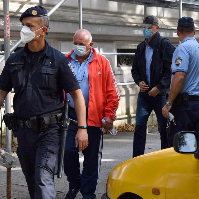 Privođenje uhićenih u akciji Janaf