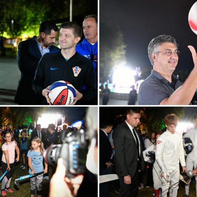 Otvoren Europski tjedan sporta na Jarunu, Andrej Plenković