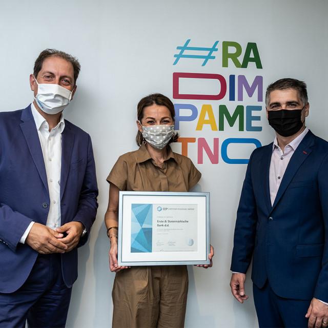 Dodjela certifikata Poslodavac Partner Erste banci