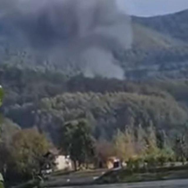 Zrakoplov Mig-21 Vojske Srbije srušio se na području sela Vrasina oko Malog Zvornika