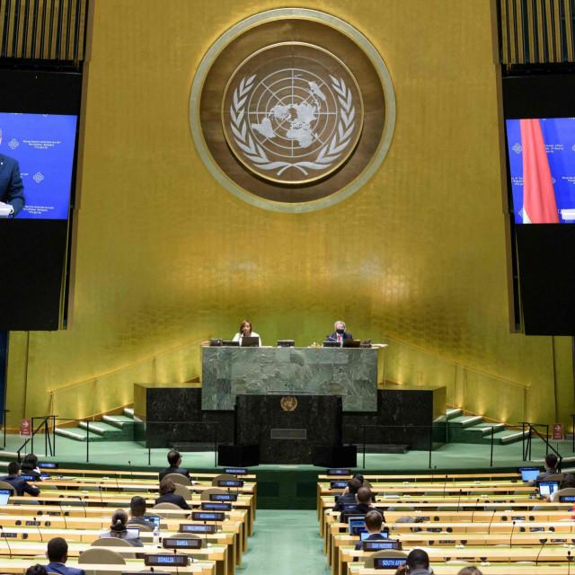 Vladimir Makei tijekom obraćanja u UN-u