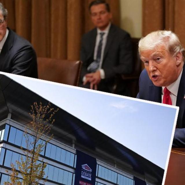 Tomislav Mihaljević (lijevo gore), Donald Trump i Sheila and Eric Samson paviljon