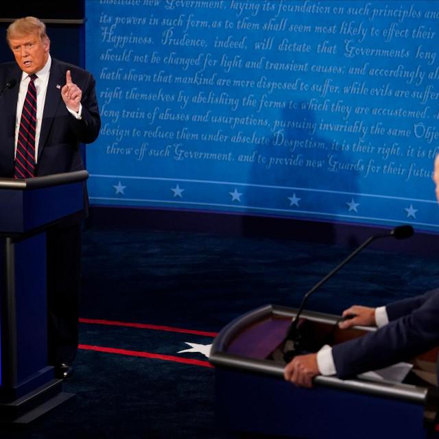 Donald Trump i Joe Biden na debati