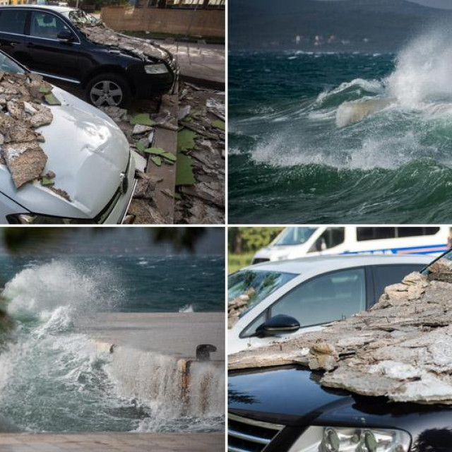 Olujno jugo na području Zadra izazvalo je velike probleme