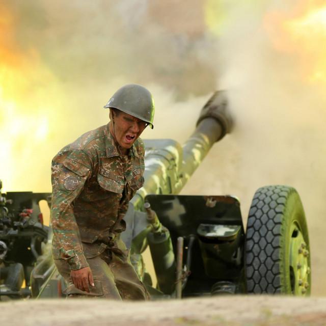Prizor iz sukoba u Nagorno Karabahu