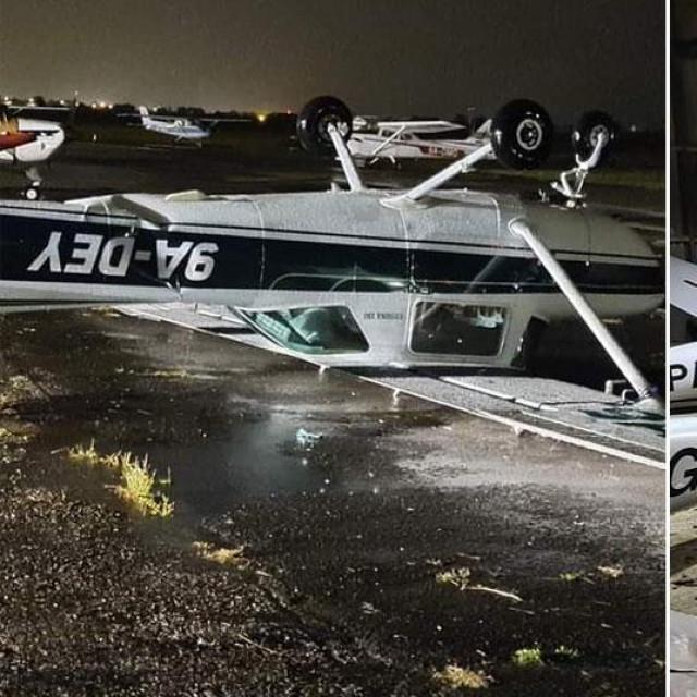 Oštećeni zrakoplovi u Lučkom