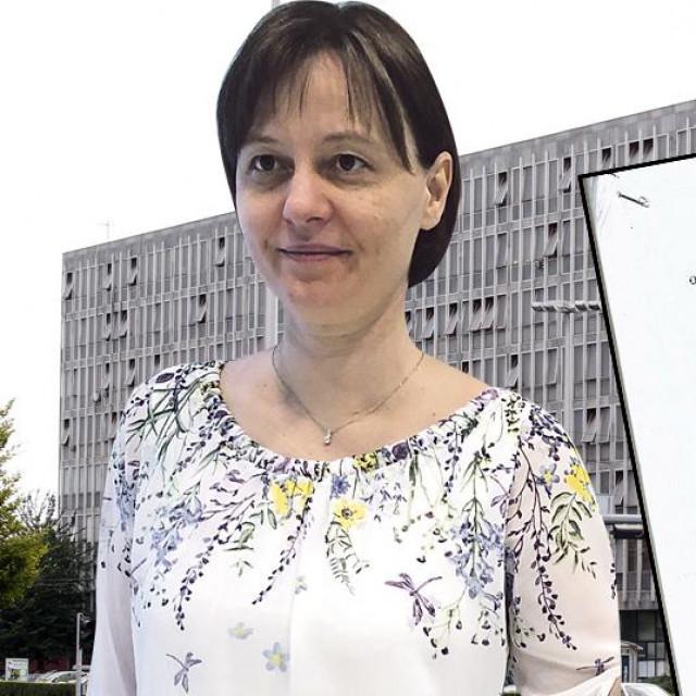Vedrana Valčić, screenshot presude i zgrada Općinskog suda u Zagrebu u pozadini