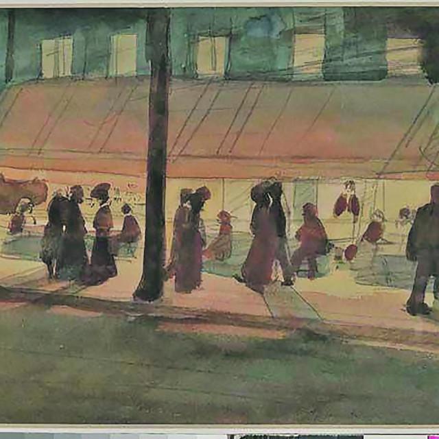 Josip Račić: Kavana na bulevaru, 1908.
