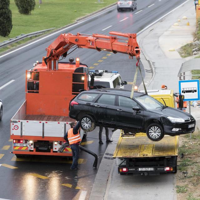 Prometna nesreća na brzoj cesti Split -Trogir u smjeru Solina