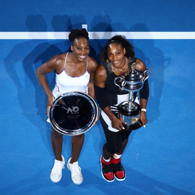 Serena i Venus iz vremena kad su igrali finala na Grand Slam turnirima