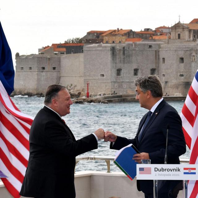 Mike Pompeo i Andrej Plenković u Dubrovniku