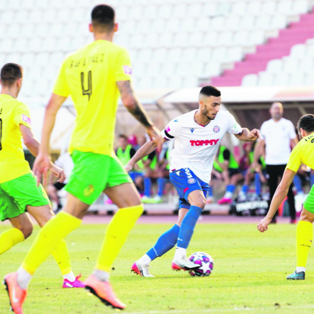 Split,160820 Stadion u Poljudu, 1.kolo HT Prve lige, utakmica: HNK Hajduk - NK Istra Na fotografiji: Zakaria Jradi.